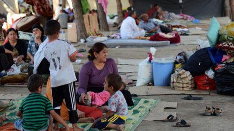 Un camp de réfugiés yézidis à Dohuk, à quelques kilomètres de la frontière turque. (ANADOLU AGENCY / AHMET IZGI)