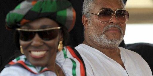 Le couple Rawlings à Accra, le 7 janvier 2009. (AFP PHOTO / PIUS UTOMI EKPEI)