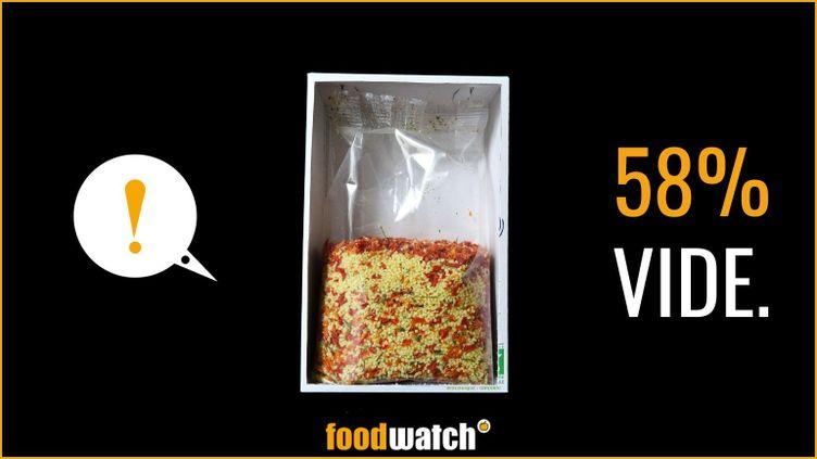 L'un des visuels de la nouvelle campagne de l'ONG de défense des consommateurs Foodwatch, présentée le 17 septembre 2020. (FOODWATCH)