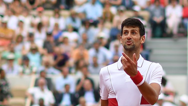 Novak Djokovic disputera son neuvième huitième de finale d'affilée à Roland-Garros (CHRISTOPHE ARCHAMBAULT / AFP)