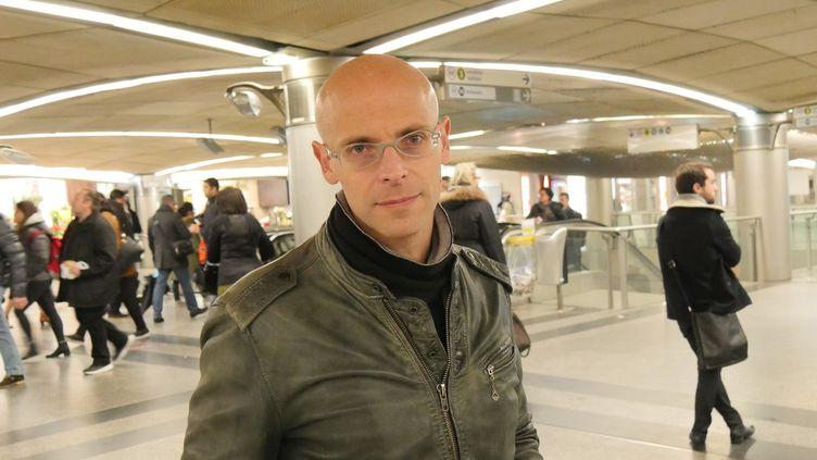 Le compositeur Mauro Lanza à Paris, le 7 mars 2016.  (Lorenzo Ciavarini Azzi/Culturebox)