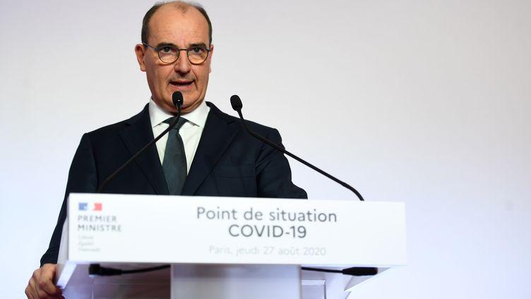 Le Premier ministre, Jean Castex, le 27 août 2019 à Matignon. (CHRISTOPHE ARCHAMBAULT / AFP)