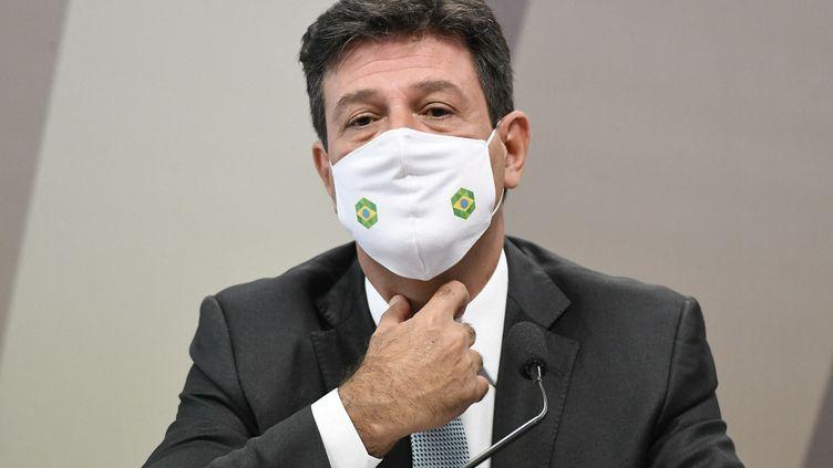 Luiz Henrique Mandetta, ancien ministre de la Santé du Brésil, le 4 mai 2021. (JEFFERSON RUDY / AGENCIA SENADO)