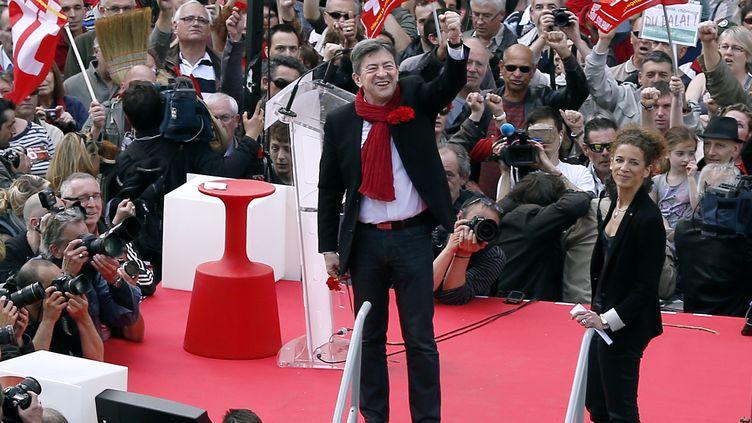 Jean-Luc Mélenchon,place de la Bastille, à Paris, le 5 mai 2013. (THOMAS COEX / AFP)