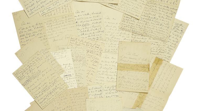 Correspondance de Marcel Proust à René Blum (16 lettres), de 1913, aux enchètres chez Christie's le 7 octobre. Estimation: €200,000-300,000. (©Christie's Images, Ltd 2019)