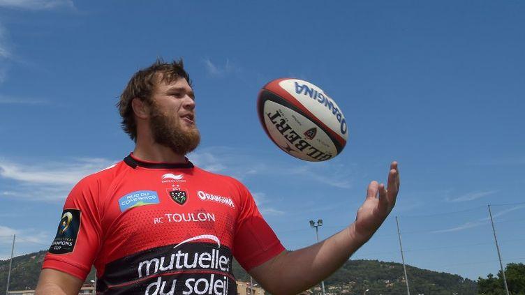 Le troisième ligne sud-africain du RC Toulon, Duane Vermeulen. (BORIS HORVAT / AFP)