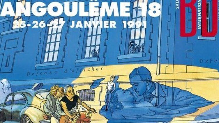 L'affiche de 1991 signée Max Cabanes  (Festival International de la Bande Dessinée d'Angoulême)