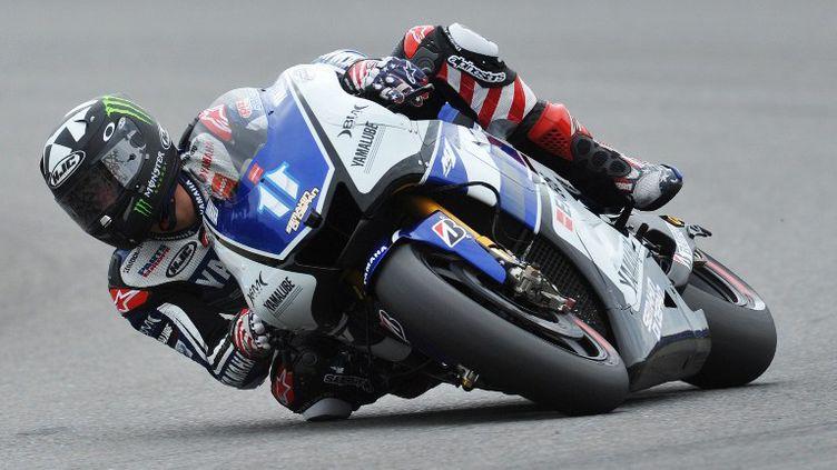 Ben Spies s'est montré le plus rapide lors des essais libres du Grand Prix d'Aragon (MICHAL CIZEK / AFP)