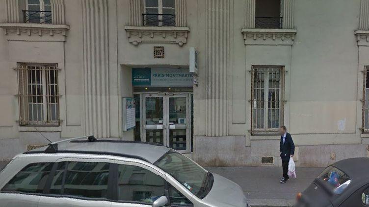 L'entrée de la clinique Paris Montmartre, en septembre 2014, dans le 18e arrondissement de Paris. (GOOGLE STREET VIEW / FRANCETV INFO)