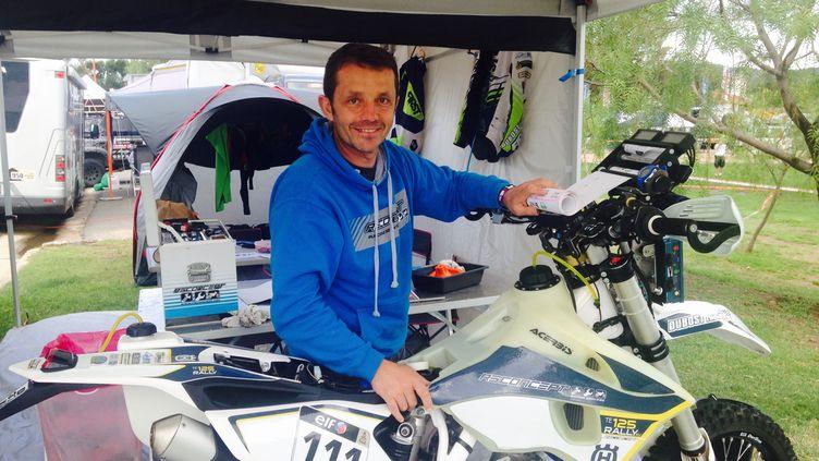 Sylvain Espinasse et sa 125cc