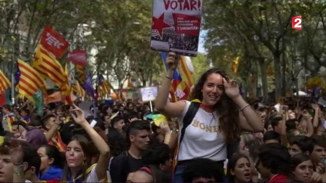 Catalogne : les manifestations se multiplient à l'approche du référendum