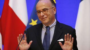 Le ministre de l'Intérieur, Bernard Cazeneuve, lors d'une conférence de presse place Beauvau, à Paris, le 6 novembre 2014. (CHARLES PLATIAU / REUTERS)