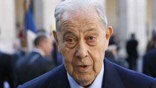 L'ancien ministre de l'Intérieur Charles Pasqua, le 15 avril 2015, à Paris. (PATRICK KOVARIK / AFP)