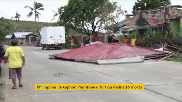 Typhon Phanfone aux Philippines : le bilan s'alourdit à 16 morts