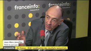 Le PDG du groupe Air France-KLM,Jean-Marc Janaillac, le 28 juillet 2017. (FRANCEINFO)