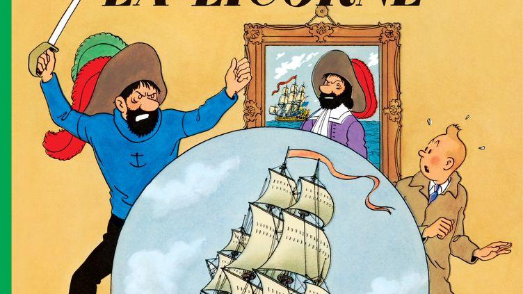 """Couverture """"Le secret de la Licorne"""", Hergé (CASTERMAN)"""