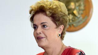 La présidente brésilienne, Dilma Rousseff, le 29 mars 2016 à Brasilia. (EVARISTO SA / AFP)