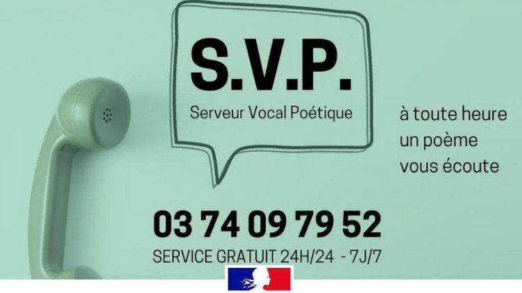Le numéro d'appel du serveur vocal poétique, relayé sur le compte du ministère de la Culture. (CAPTURE D'ÉCRAN TWITTER)