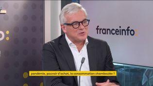 Bertrand Dumazy, PDG d'Edenred, le 21 octobre 2021. (FRANCEINFO / RADIO FRANCE)