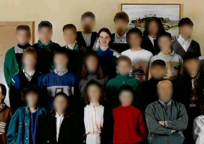 Corinne Diacreen classe detroisième au collège Jules- Marouzeau de Guéret (Creuse), en 1988. (JACQUES AGIS)