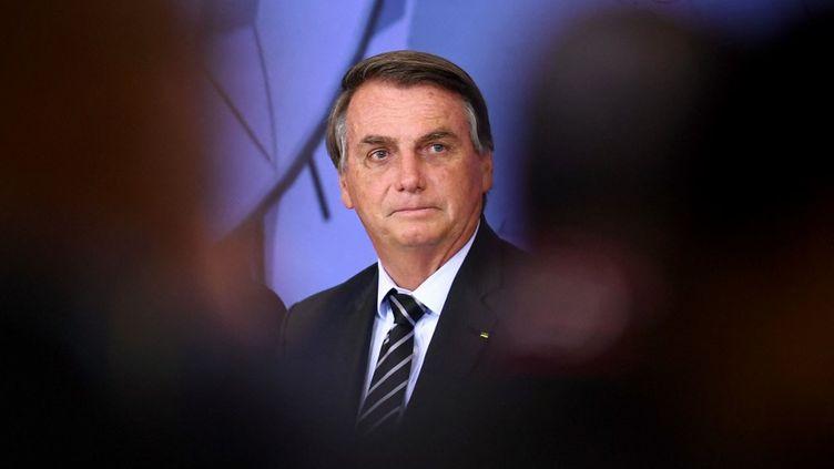 Le président brésilien Jair Bolsonaro, à Brasilia (Brésil), le 14 septembre 2021. (EVARISTO SA / AFP)