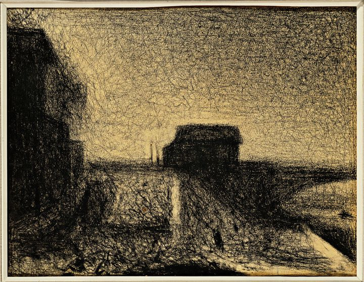 Le pont de Courbevoie. Dessin de Georges Seurat (1859-1891), 1886. Crayon. Geneve, Collezione Berggruen  (AFP)