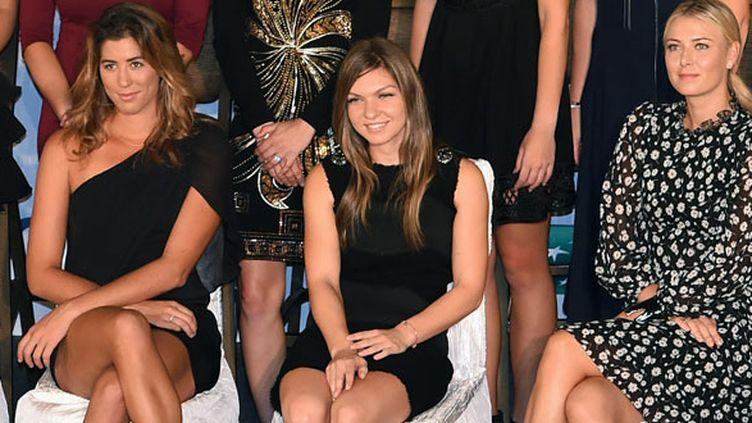 Garbine Muguruza, Simona Halep et Maria Sharapova en tenue glamour avant le Masters de Singapour