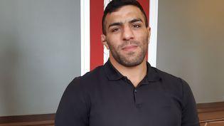 Le judoka iranien Saied Mollei a été contraint de perdre un combatsous la pression des autorités politiques.Il a fait le choix de rompre avec son pays. (FABRICE RIGOBERT / RADIO FRANCE)