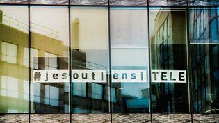 Les bureaux d'i-Télé à Boulogne (Hauts-de-Seine), le 25 octobre 2016. (SIMON GUILLEMIN / HANS LUCAS / AFP)