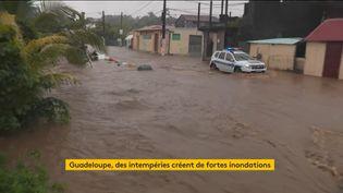Inondations en Guadeloupe (Capture d'écran franceinfo)
