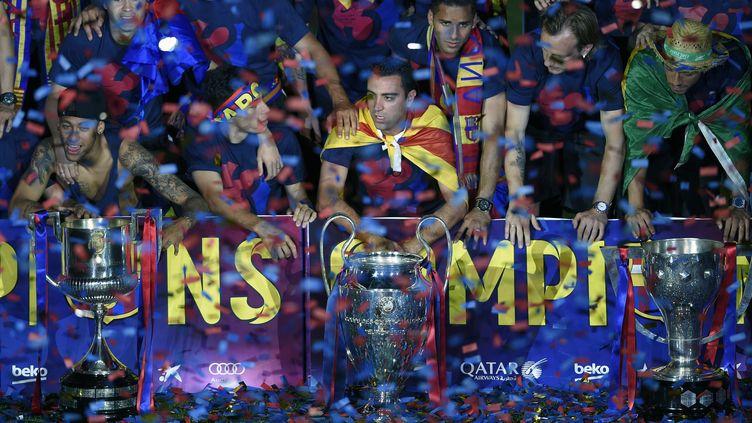 Le Barça disputera le Mondial des Clubs décembre prochain grâce à sa victoire en Ligue des Champions en mai dernier face à la Juventus (LLUIS GENE / AFP)