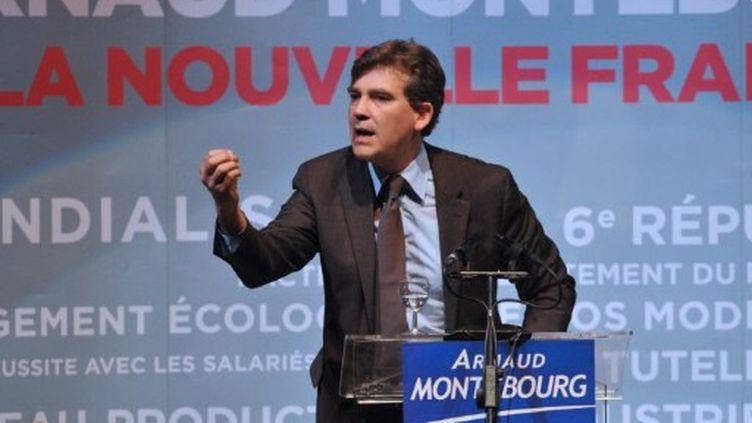 Arnaud Montebourg en meetinf à Pessac (PIERRE ANDRIEU / AFP)