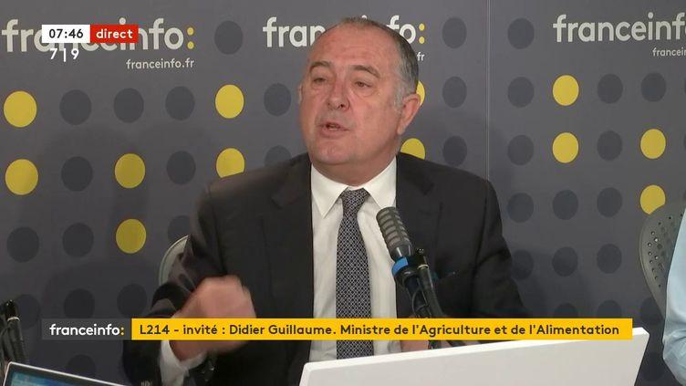 Le ministre de l'Agriculture Didier Guillaume sur franceinfo, le 26 juin 2020. (FRANCEINFO / RADIOFRANCE)