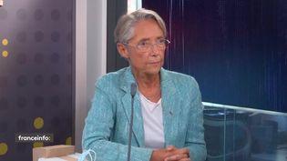 Élisabeth Borne, ministre du Travail, de l'Emploi et de l'Insertion, invitée de franceinfo le 27 septembre 2021. (FRANCEINFO)
