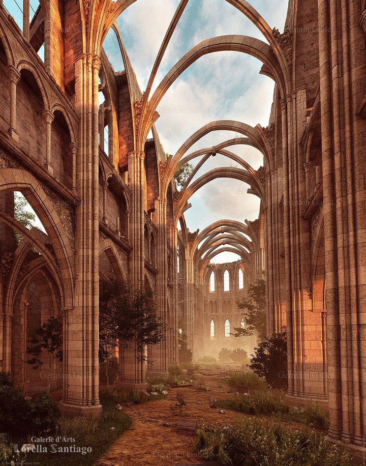 La Sainte-Chapelle en cours de destruction vue par Germain Gallet (Galerie Lorella Santiago / Germain Gallet)