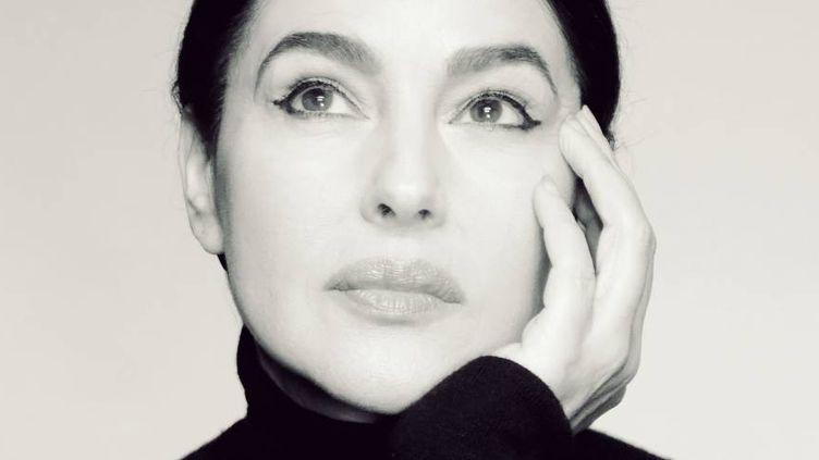 Monica Bellucci lit les lettres et mémoires de Maria Callas dirigé par Tom Wolf, au Studio Marigny à Paris. (Tom Wolf)