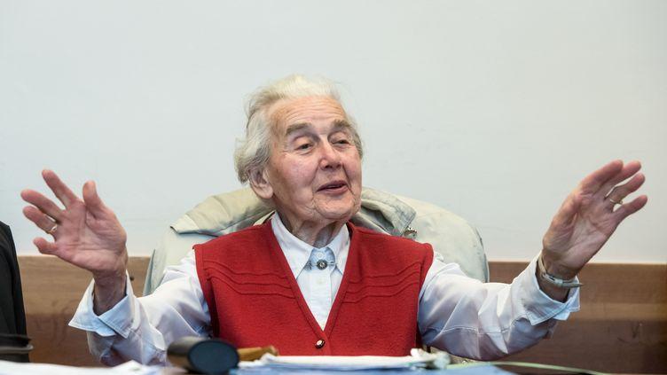 Ursula Haverbeck, le 23 novembre 2017 à Detmold (Allemagne). (BERND THISSEN / DPA / AFP)