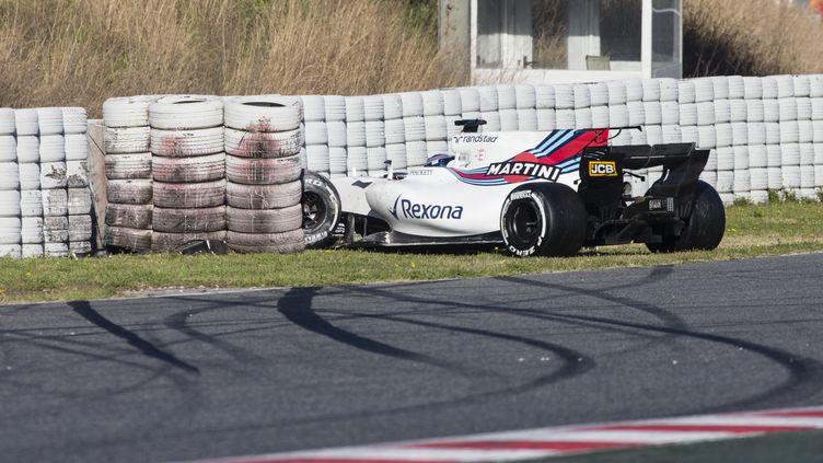 La Williams de Lance Stroll a subi des dégâts importants lors des essais à Barcelone (DPPI / DPPI MEDIA)