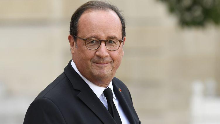 François Hollande à l'Elysée, le 30 septembre 2019. (BERTRAND GUAY / AFP)