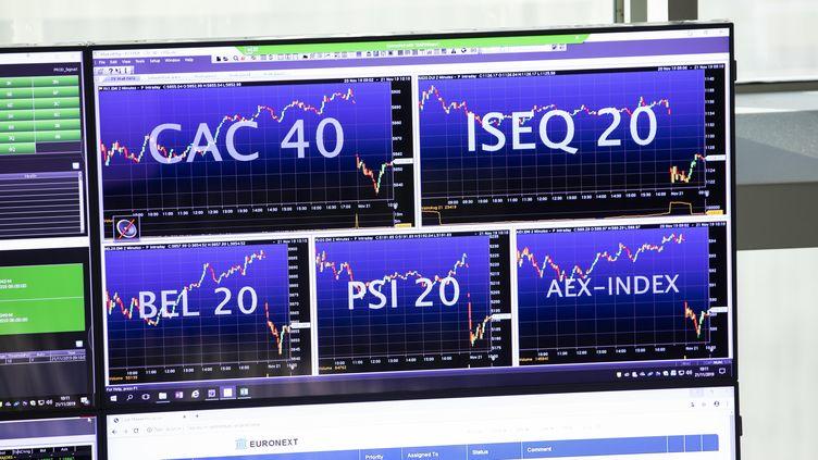 Illustration de l'Euronext Paris stock exchange, le 21 novembre 2019. (ALEXIS SCIARD / MAXPPP)