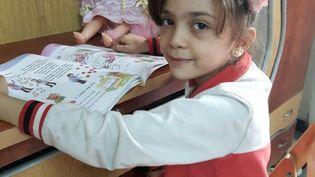 Photo de Bana, 7 ans, postée sur Twitter le 26 septembre 2016. (FATEMAH AL ABED / TWITTER)