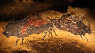 L'une des reproductions d'art pariétal de Lascaux III  (PHOTOPQR/SUD OUEST)
