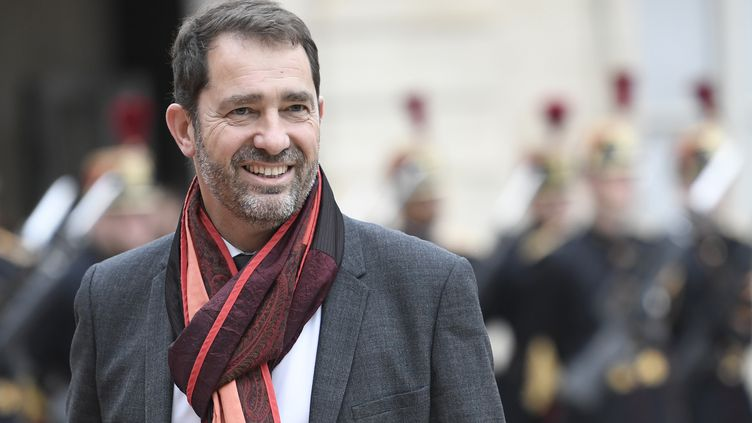 Le porte-parole du gouvernement, Christophe Castaner, à l'Elysée, à Paris, le 14 mai 2017. (STEPHANE DE SAKUTIN / AFP)