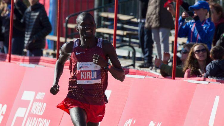 Kirui à l'arrivée du marathon de Chicago (TASOS KATOPODIS / GETTY IMAGES NORTH AMERICA)