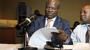 L'ex-chef rebelle Roger Lumbala, lors d'une visite à Kampala, en Ouganda en février 2013. (ISAAC KASAMANI / AFP)
