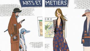 Les folles heures de la vie d'une parisienne : 2 époques confrontées, celle des années 30 et aujourd'hui... dans le métro  (Guénolée Milleret et Angéline Mélin )