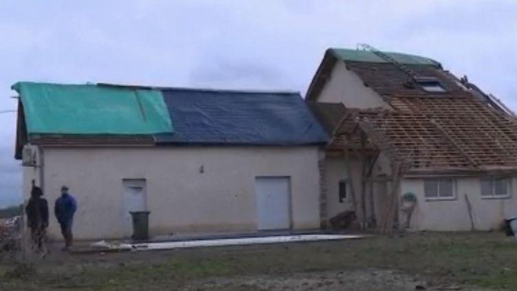 Intempéries : le village de Serres-Sainte-Marie balayé par une tornade (CAPTURE ECRAN FRANCE 2)