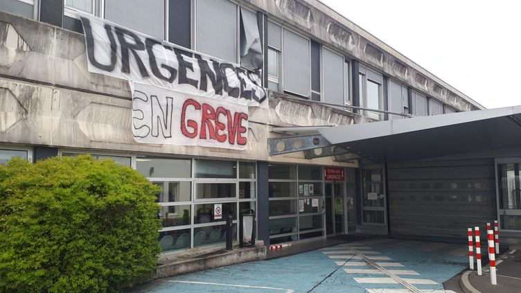 Des urgences en grève, ici à Mulhouse en avril 2019. (PATRICK GENTHON / RADIO FRANCE)