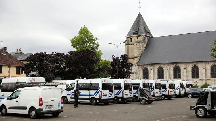 L'église de Saint-Etienne-du-Rouvray, le 27 juillet 2016. (MAXPPP)