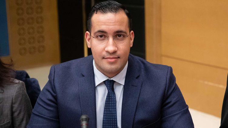 Alexandre Benalla lors de son audition au Sénat, le 21 janvier 2019. (CHRISTOPHE MORIN / MAXPPP)
